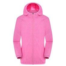 Women Casual Jackets  Windproof Ultra-Light Rainproof Windbreaker Hooded Jackets