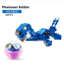 Creative Assembly of Egg-Twisting Dinosaur Model Building Blocks for Children PuzzleToys Free Shipping цены