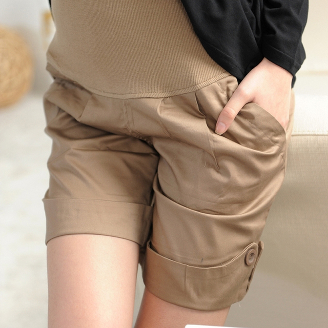 Maternity shorts Korean summer style Pregnant Pants Casual loose-fitting Plus size Maternity Pants Shorts  cheap clothes china