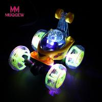 MUQGEW Brand Toys 360 Spinning And Flips RC Cars With Color Flash Music For Kids Remote