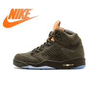 Original Authentic NIKE Air Jordan 5 Retro Prem Take Flight Mens Basketball Shoes Sneakers Sport Outdoor Waterproof 881432