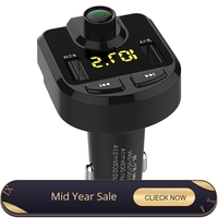 Bluetooth MP3 Player on board Car Bluetooth FM Transmitter Bluetooth FM Modulator Bluetooth Dual USB cigarette Charger BT36