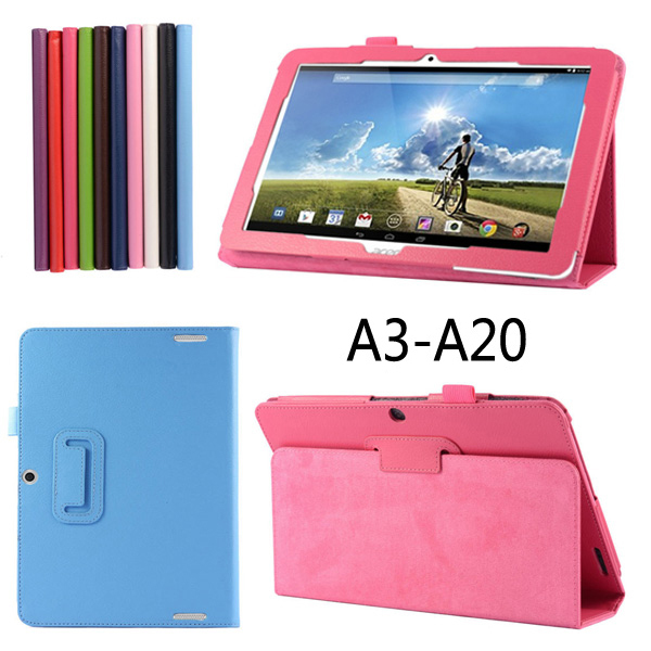New Luxury 2-Folding Leeche Folio Stand Leather Skin Case Protective Cover For Acer Iconia Tab 10 A3-A20 A3-A20FHD A1407 10.1 2 folding luxury folio stand holder leather case protective cover for samsung galaxy note pro 12 2 p900 p901 p905 12 2 tablet