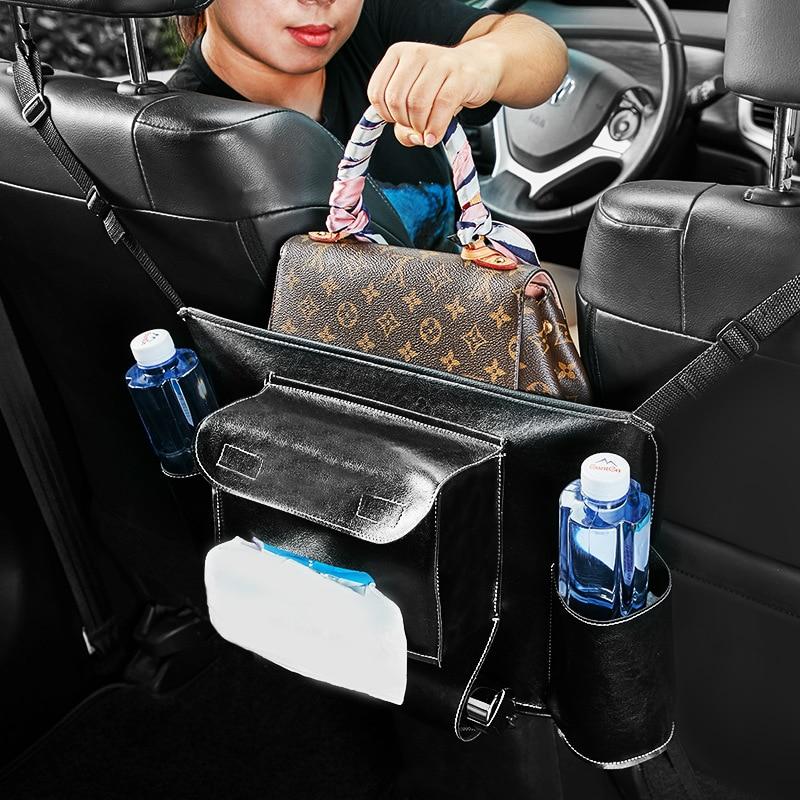 New Arrival! High Quality PU Leather Car Armrest Box Storage Bag ...
