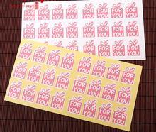 Home Garden Kitchen Dining Bakeware Cake Tools Pink packaging box sealing paste gift box label 900pcs/lot free shipping
