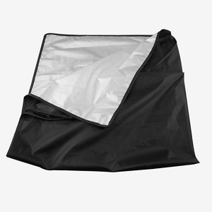 Image 5 - Universal Car Sunshade Cover with Magnet Auto Front Windshield Sunshades Car Window Sunshade Black Color