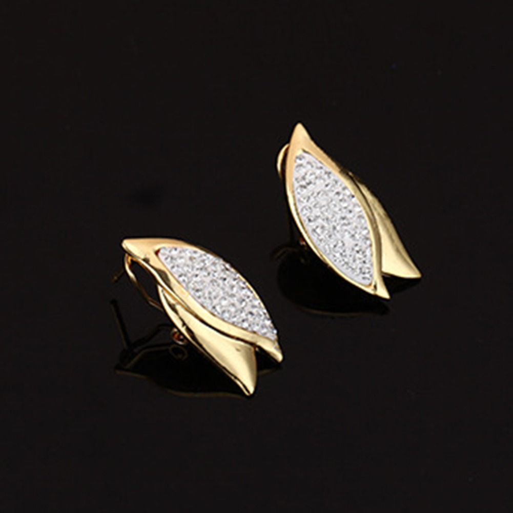 Wholesale toilet paper suppliers Elegant Women Rhinestone Leaf Charm Necklace terracotta jewellery set Bracelet Ear Studs Jewelry Set 2019 fashionmia sale Jewelry Sets vh88078002
