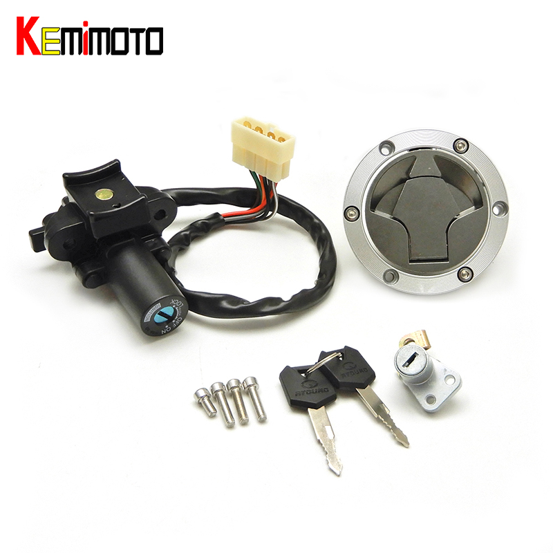 KEMiMOTO Ignition Switch Fuel Gas Cap Seat Lock for Kawasaki NINJA250 2008-2012 NINJA300 2014 motorcycle accessories