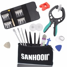 SANHOOII Universal 38 in 1 Mobile Phone Screen Opening Pliers Repair Tools Screwdriver Tool Set