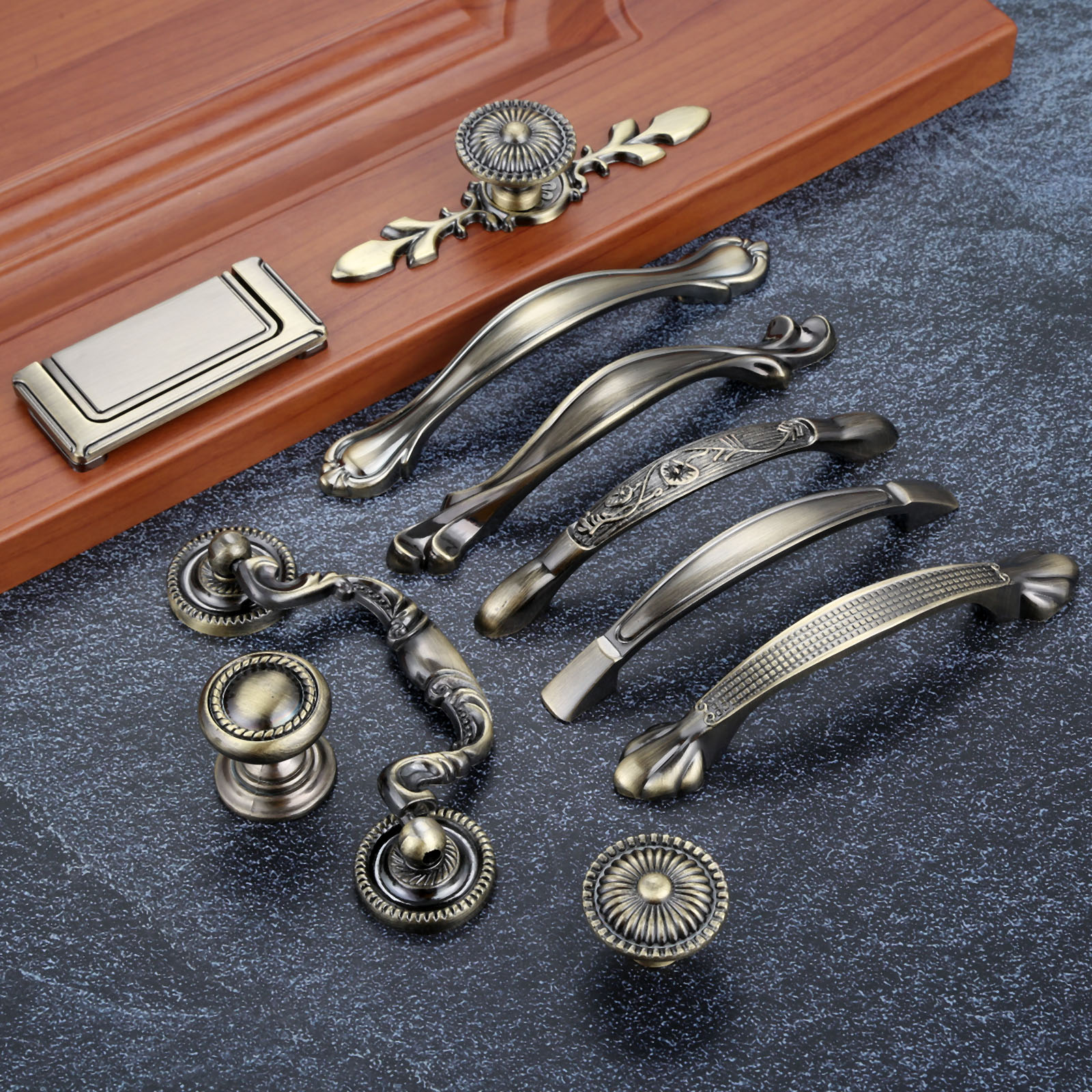 Antique Door Handles Knobs Metal Drawer Pulls Kitchen Cabinet For Furniture Hardware