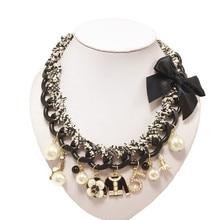 XL191 marque cc 2016 chaîne collier bijoux neckless fleur bijouterie colliers femmes maxi/groot kolye sautoir de luxe perle(China (Mainland))