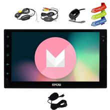 Android 6.0 Car Stereo GPS 2 Din Navigation 7 Inch Vehicle Radio Head Unit Support 1080P Video No-DVD cd WiFi OBD2+Backup Camera