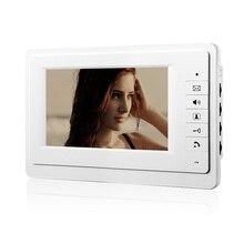 Chuangsafe 720 P 7 pulgadas LCD pantalla Con Conexión de Cable Video de La Puerta Teléfono Intercom Unidad Interior Sin Cámara Al Aire Libre