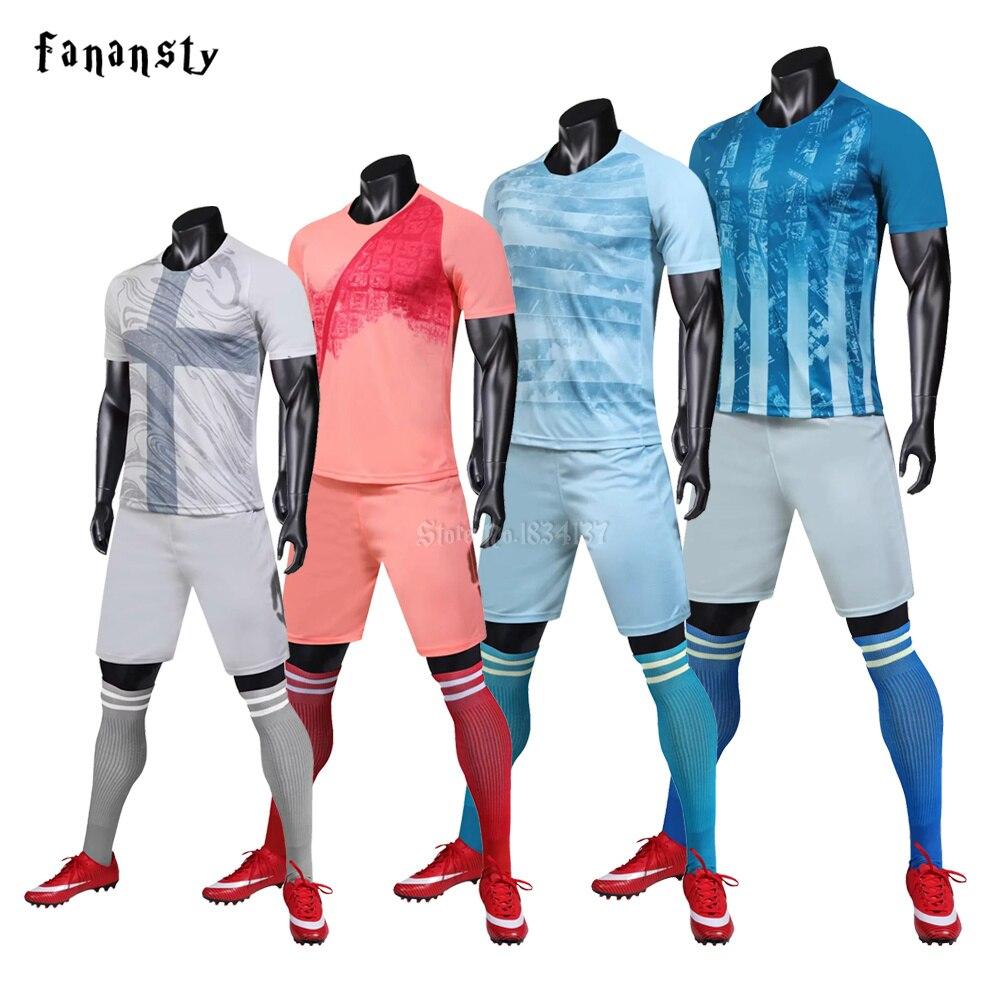 f0150430c20 Men soccer jerseys custom football uniforms running sets 2018 2019 survetement  football