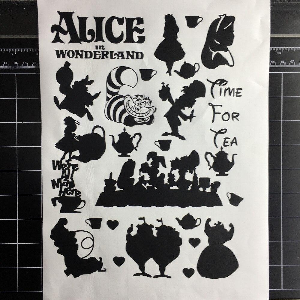 2018 Hot Sale Alice In Wonderland Home Decor Wall Decal Vinyl Stickers Nursery Kids Room Wallpaper Decor Sticker L122