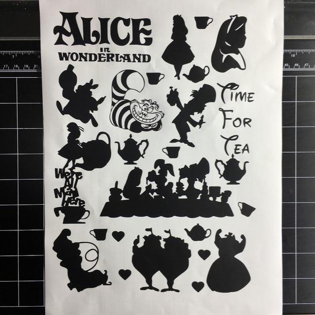 2018 Hot Sale Alice In Wonderland Home Decor Wall Decal Vinyl Stickers Nursery Kids Room Wallpaper Sticker L122