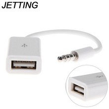 Conector de Audio auxiliar macho económico de alta calidad conector USB 2,0 hembra Cable convertidor coche MP3 On- placa de adaptador de corriente(China)
