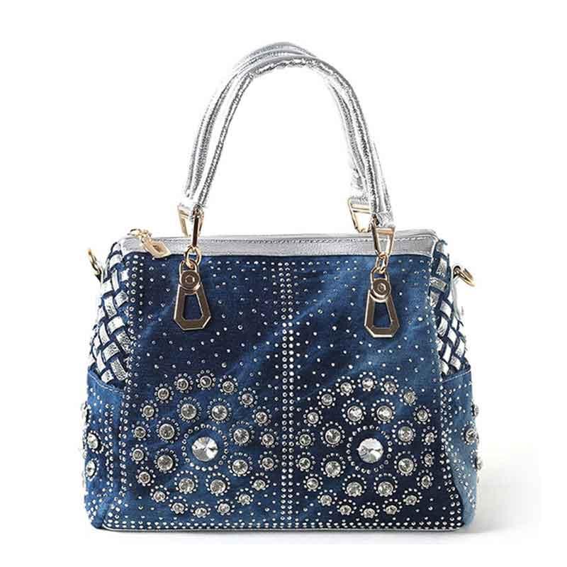 Famous Brand Luxury Handbags Women Bags Casual Ladies Tote Bags Designer Crystal Diamond Women Messenger Bag Girl Crossbody Bag