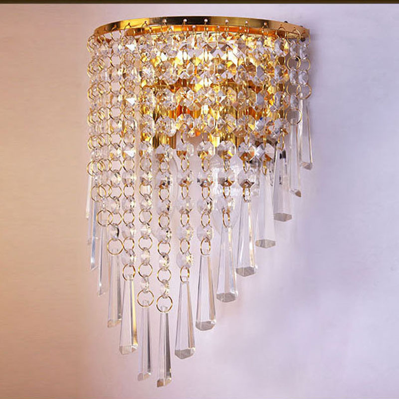 Luxury Wall Sconce Fixture K9 Crystal Wall Light Home ... on Wall Sconce Lighting Decor id=95331