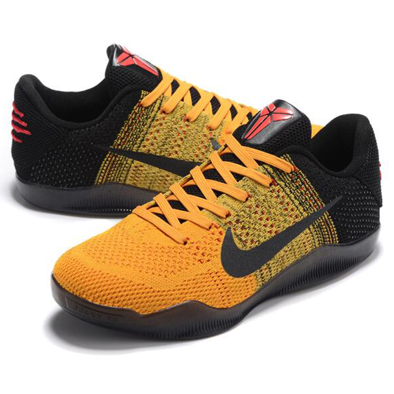 reduced nike kobe 11 elite low bruce lee mens basketball shoes yellow black  abrasion resistant breathable 6aed06a067ac