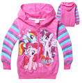 Retail New 2016 Girls Autumn Children Outerwear Little Pony Jackets Coat Hoodies Clothing Roupas Infantil in stock