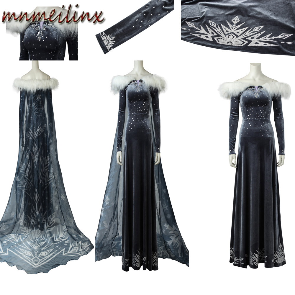 Popular Hot Olaf's Adventure Snow Queen 2 Costume - Adult Elsa Costume Womens Cosplay Costume Party Dress Customized Outfit