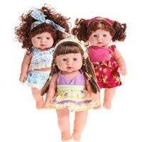 30 cm Levensechte Reborn Babypop Zachte Vinyl Siliconen Zachte Call Baby Mom & Dad Pasgeboren Baby Spreken Speelgoed Reborn mooie Meisjes Pop