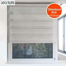 цена на FREE SHIPPING Customized zebra blinds double-layer roller blinds curtains for living room and bedroom