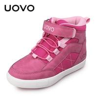 UOVO Brand Girls Shoes 2018 New Autumn Winter Kids Walking Shoes Fashion Children's Footwear Warm Girls Sneakers Size 28# 37#