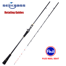 SEEKBASS BRAND Light Boat Rod Saltwater Raft Fishing FUJI REEL SEAT PE 0.6-1.2#  JIG:120G Solid Tip Tai rubber fishing