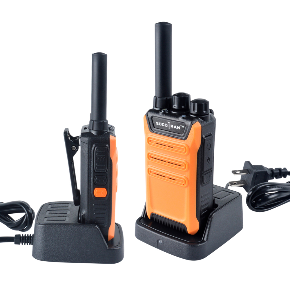 2PCS/Lot SOCOTRAN SC-508 Mini Walkie Talkie UHF 400-470MHz 16CH 2W Portable Two Way Radio Scrambler VOX Ham Radio (Four Colors)