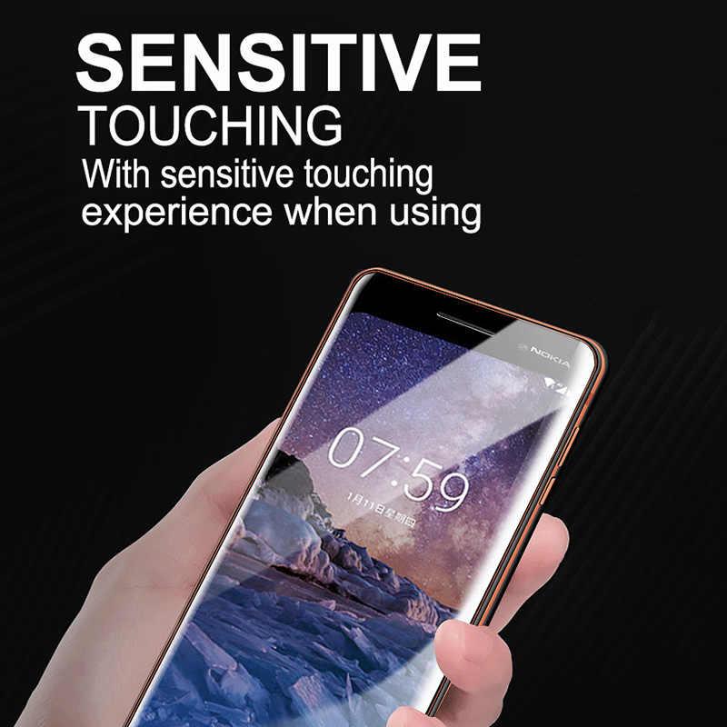 9D Vitre De Protection Pour Nokia 4.2 3.2 3 6 7 8 3.1 5.1 6.1 7.1 8.1 Plus Protecteur D'écran pour Nokia 8.1 7 Plus 5.1 6.1 Couverture de Film