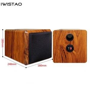 Image 2 - IWISTAO Full Range Speaker Empty Cabinet for 4 inches Passive Speaker Enclosure Wood 15mm High Density MDF Board Volume 4.8L DIY