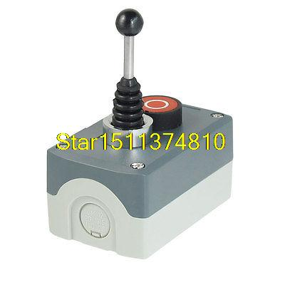 цена на 240V 3A NO Latching 3-Postion Joystick Momentary Red Pushbutton Switch Station