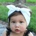 Bebé Niños Niñas Infantiles de la Flor Floral Bow Hairband Turbante Nudo Conejo Diadema Venda Del Pelo de Headwear Accesorios