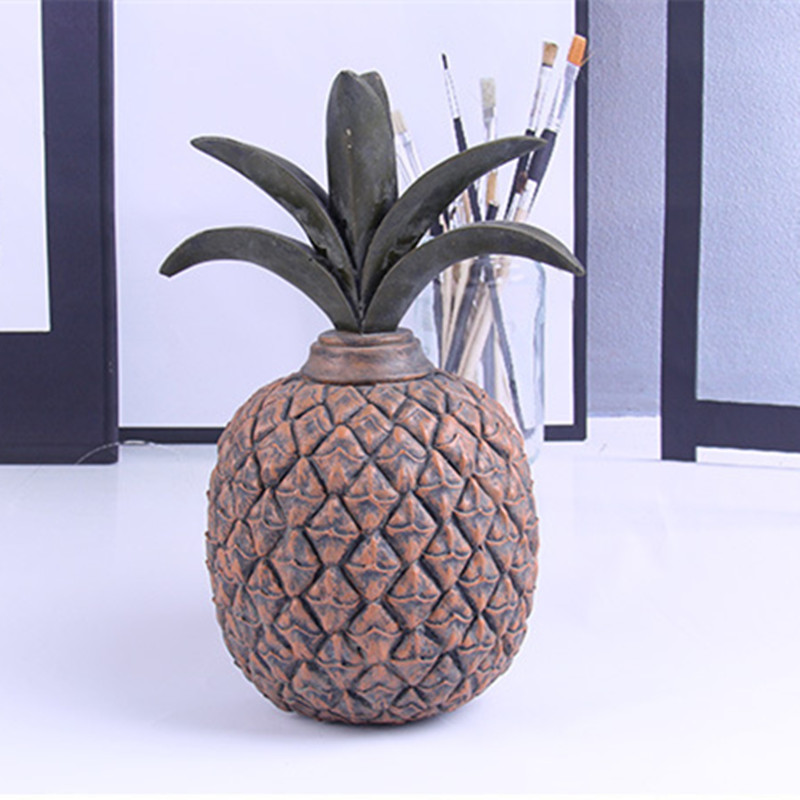 Retro Nostalgia Home Decoration Accessories Creative Pineapple Statue Sculpture Ornaments Room Decor Window Ornaments Crafts