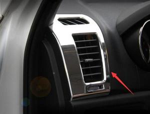 Image 3 - ABS Side Air Outlet Vent Frame Cover Trim interior 2 pcs For Changan cs35