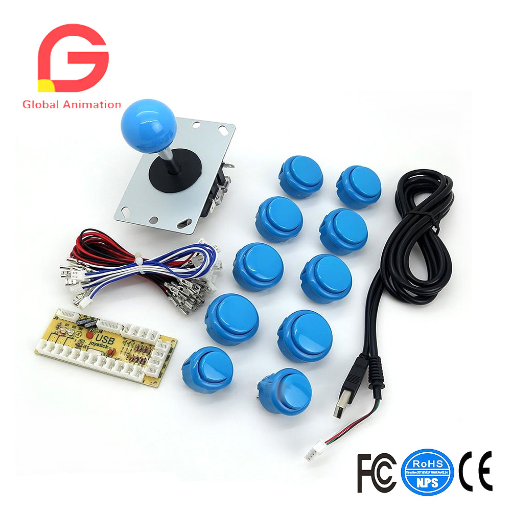 Zero Delay Raspberry Pi Arcade Game DIY Parts Encoder + Joystick + Push Buttons
