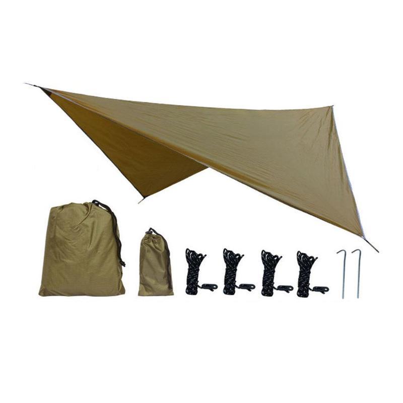 Étanche Abri Soleil Tente Bâche Anti-uv Plage D'ombre De Tente De Camping En Plein Air Hamac Pluie Mouche Camping Parasol Auvent