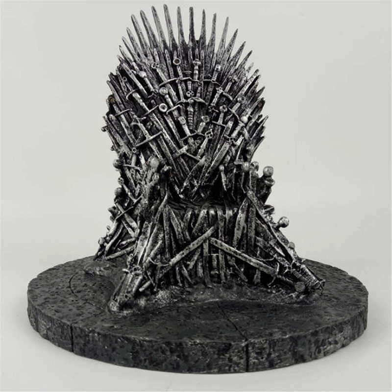 Game of Thrones action figure Toys Sword Chair Model Toy Song of Ice and Fire The Iron Throne Desk Christmas Gift 17cm N003