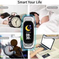 1PCS CES12 Smart Bracelet Fitness Tracker Storage Smart Push Reminder Monitoring Vibration Taking Photo Music Control Wristband