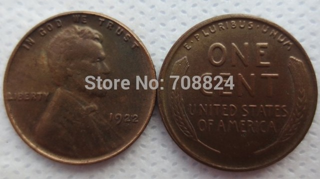 1922 LINCOLN ONE CENTS COPY coins /Free shipping