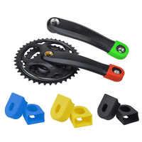 2 PCS Bike Crank Protector Cover Silica Gel Race Face Crank Boot Protectors Crankset Protective Case