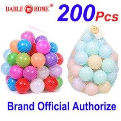 Разноцветные детские игрушки для бассейна, 200 шт., палатка с волнистыми шариками, пластиковые шарики для игр на открытом воздухе, детские заб...