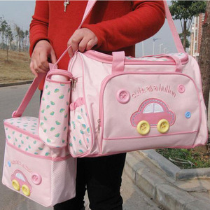Image 1 - Baby Maternity Bolsa MaternidadeDiaper Bags 3Pcs/Set Diaper Package Changing Nappy With Capacity Bag Nappy Changing Tote T0038