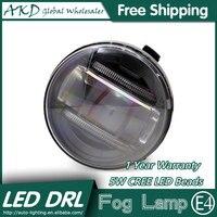 AKD Car Styling LED Fog Lamp For Infiniti FX35 DRL Emark Certificate Fog Light High Low
