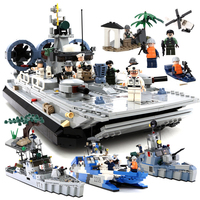 928pcs Military Frigate Blocks Navy Series Building Block Sets Compatible Legoed Army Bricks Educational Toys for Children Gift