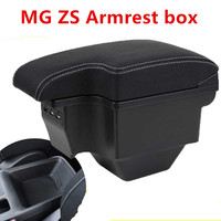 For MG ZS Armrest box central Store content box 2017 2019