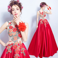 2017 New Collection Charming Exquisite Embroidery Peony Graduaction Dress/Prom Dress 963