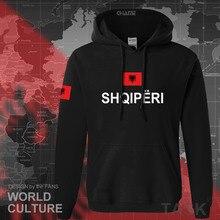 Albânia 2017 hoodies homens moletom suor novo hip hop streetwear treino nação futebolista país esportivo ALB Albanês